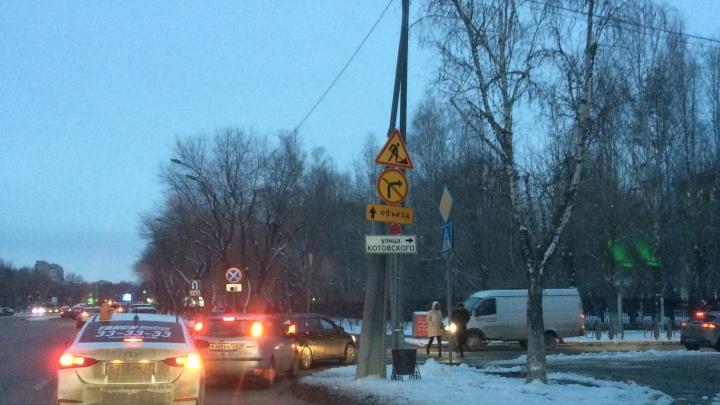 Водители едут по встречке, не обращая внимания на знаки: Котовского временно сделали односторонней