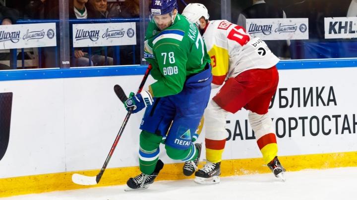 Первые очки Гареева и Семёнова в сезоне не спасли «Салавата Юлаева» от четвертого поражения подряд