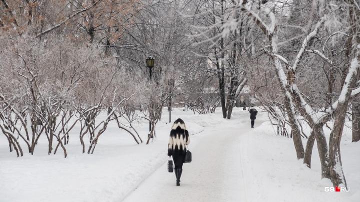 Сначала похолодание, потом — оттепель: рассказываем о погоде в Прикамье на этой неделе