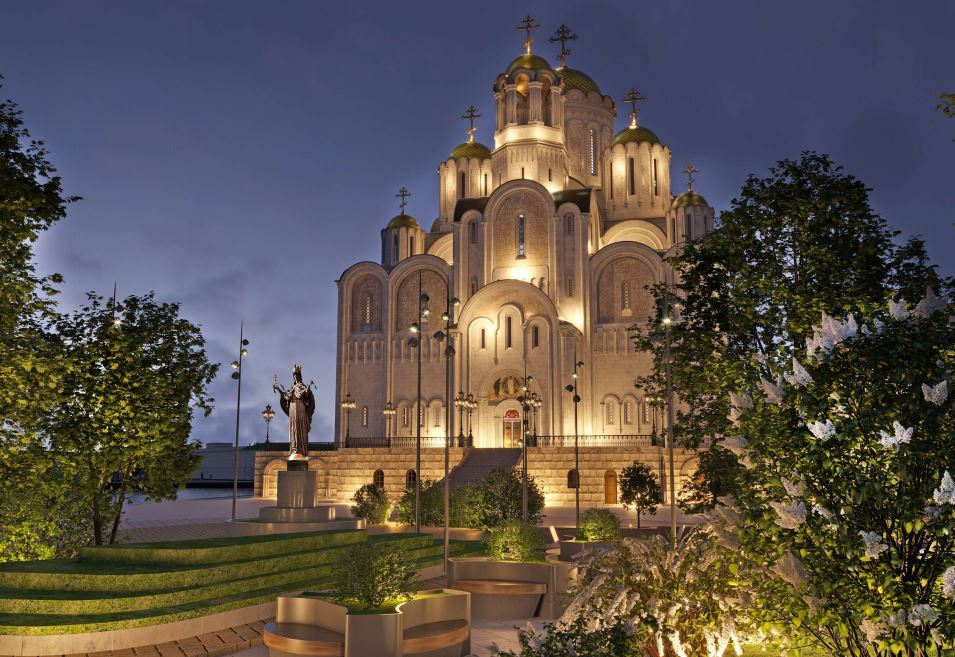 В вечернее время храм будут подсвечивать