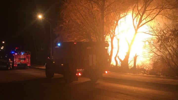 В Кургане горел многоквартирный дом по ул. Некрасова