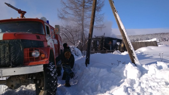 В Башкирии в сгоревшем доме нашли тело 64-летнего мужчины