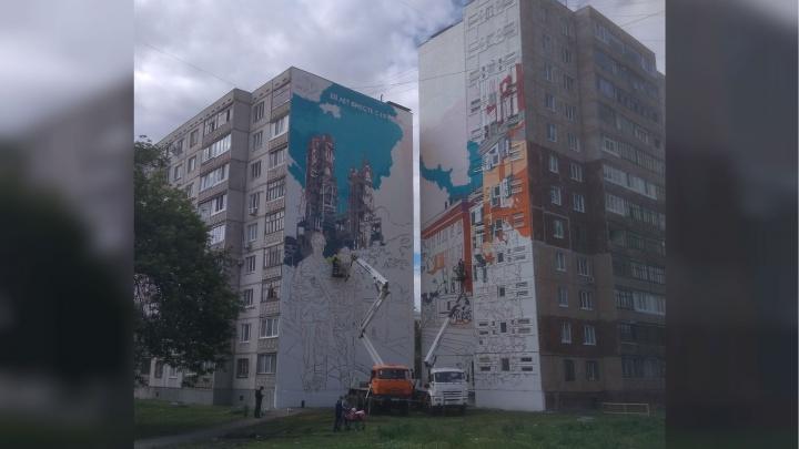 Ещё одну многоэтажку в Уфе украсит гигантское граффити