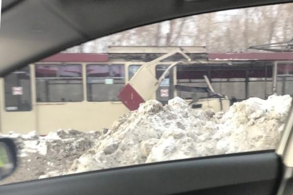 Внутри трамвая в момент ДТП были пассажиры
