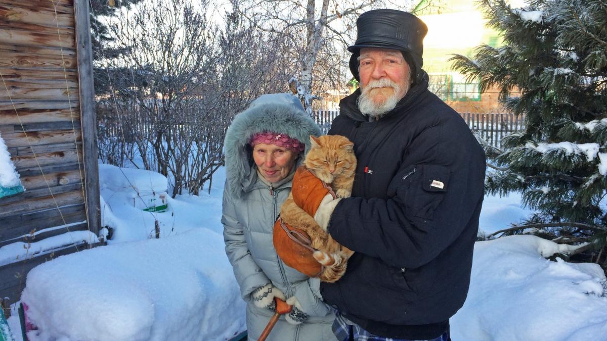 Юрий Алексеевич Буров с супругой Тамарой Ивановной в своём загородном доме