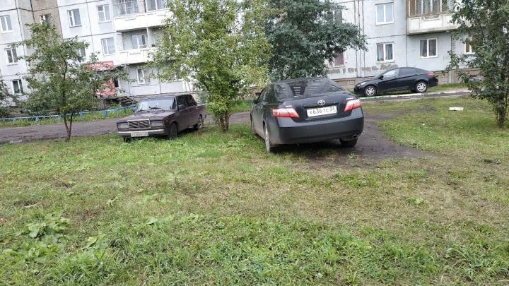 Красноярские депутаты предложили ввести штраф в 2000 рублей для автохамов за парковку на газоне