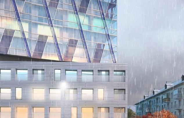 Высотка, которую хотят построить рядом с Дворцом спорта, будет похожа на айсберг