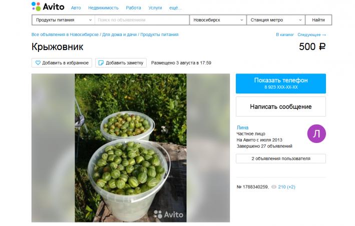 Ягоды, мёд и орехи также продают в чатах соседей