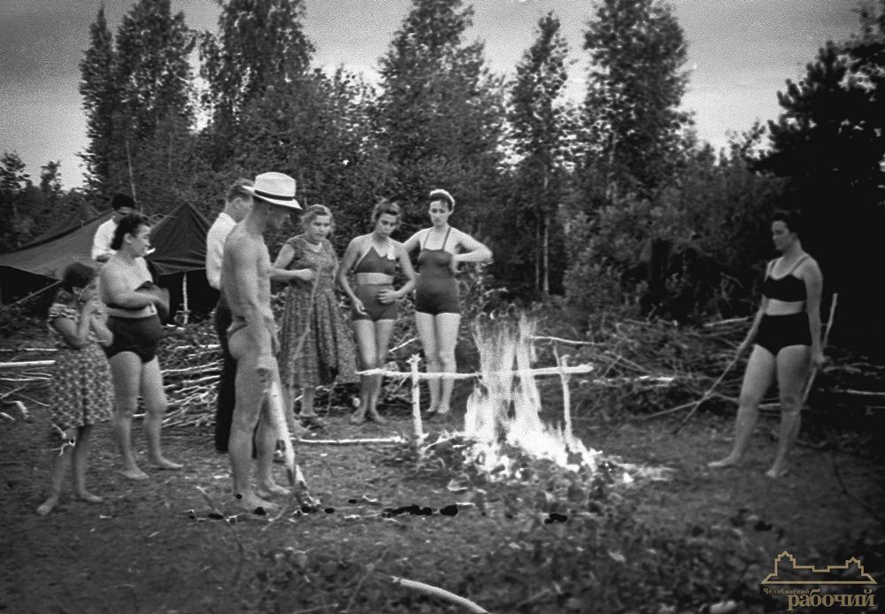 Летний отдых на озере Курги. 1957 год