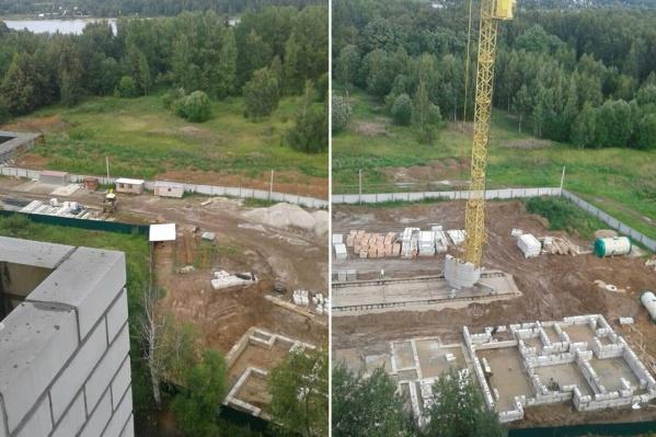 Работы на стройплощадке продолжаются, несмотря на запрет