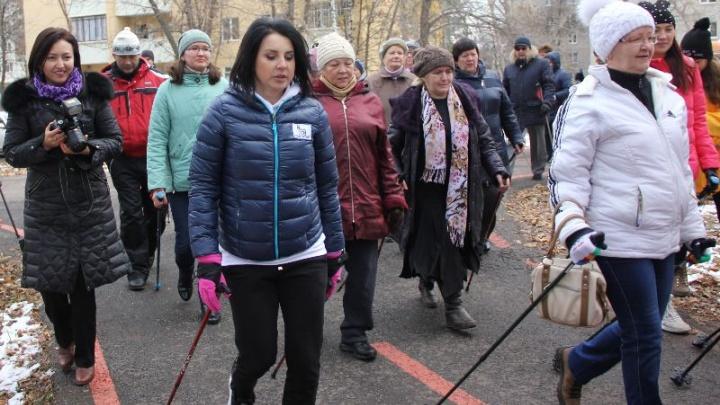 Призер Олимпийских игр Слуцкая провела в Уфе мастер-класс скандинавской ходьбы