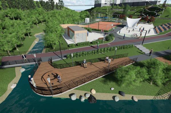 Застройщик предложил за собственный счёт построить 1 га парка в пойме 1-й Ельцовки — проект раскритиковали
