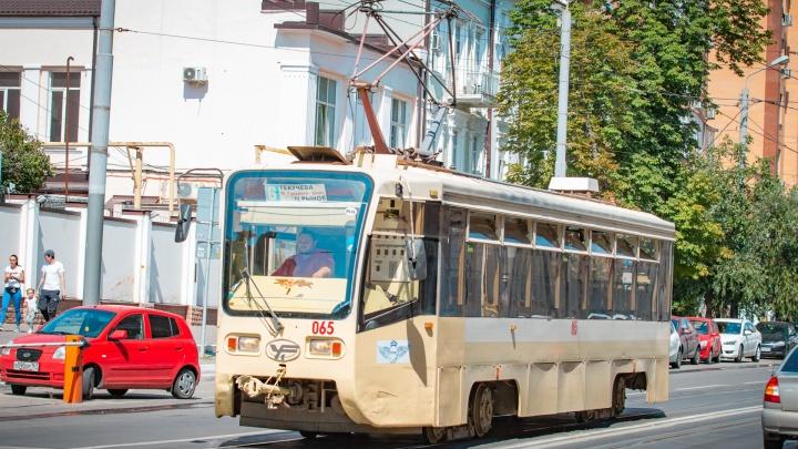 Схемы двух трамвайных маршрутов временно изменят в Ростове