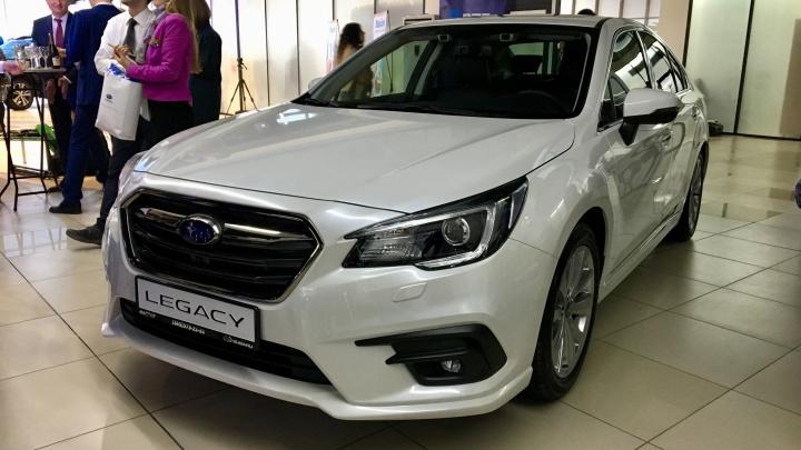 В одном классе с Camry: в Новосибирске показали новый седан Subaru