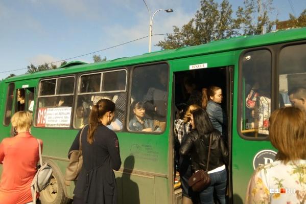 Автобусы едут переполненными