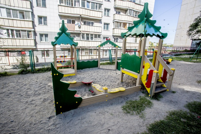 Песочные дворики и аттракционы появятся в 41 дворе