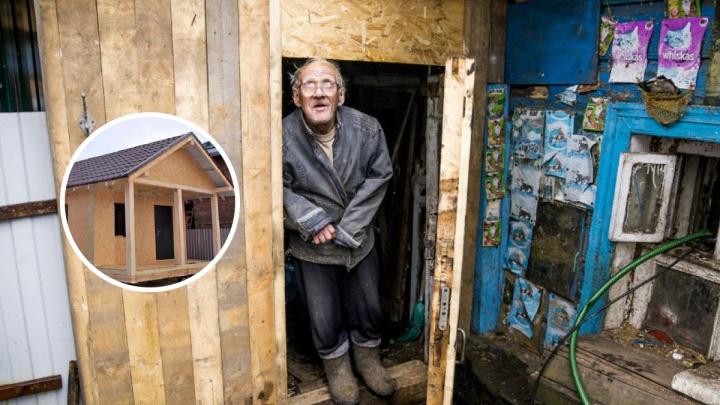 Волонтёры нашли, кому отдать новый дом ярославского ветерана из землянки