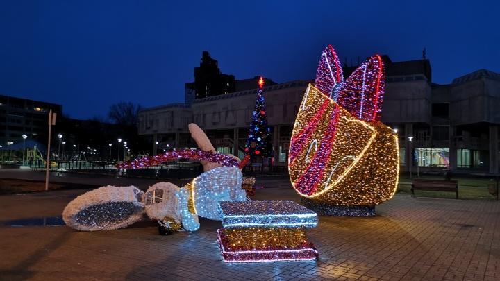 В Ярославле ветром унесло новогоднюю мышь