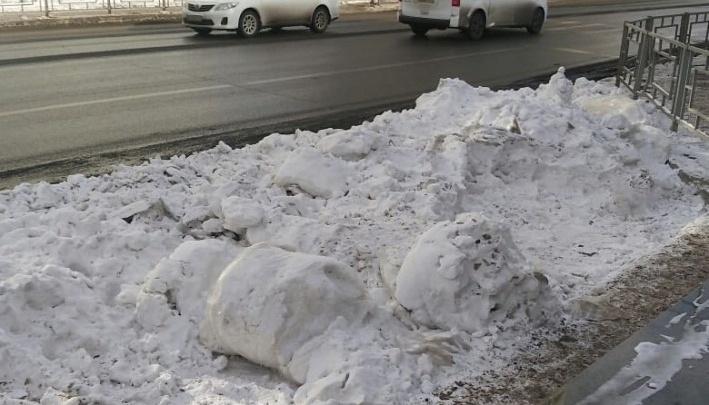 Стало известно, как на Дубровинского появился расфасованный по пакетам белый снег
