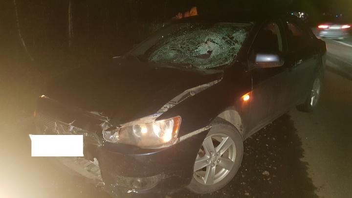 На дороге на ТЭЦMitsubishi насмерть сбила мужчину