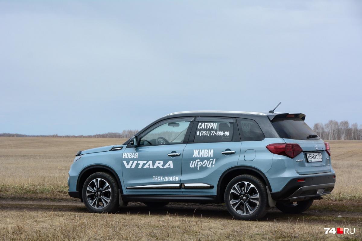 При длине кузова в 4,2 метра Vitara короче, чем Hyundai Creta, и ближе к Nissan Juke