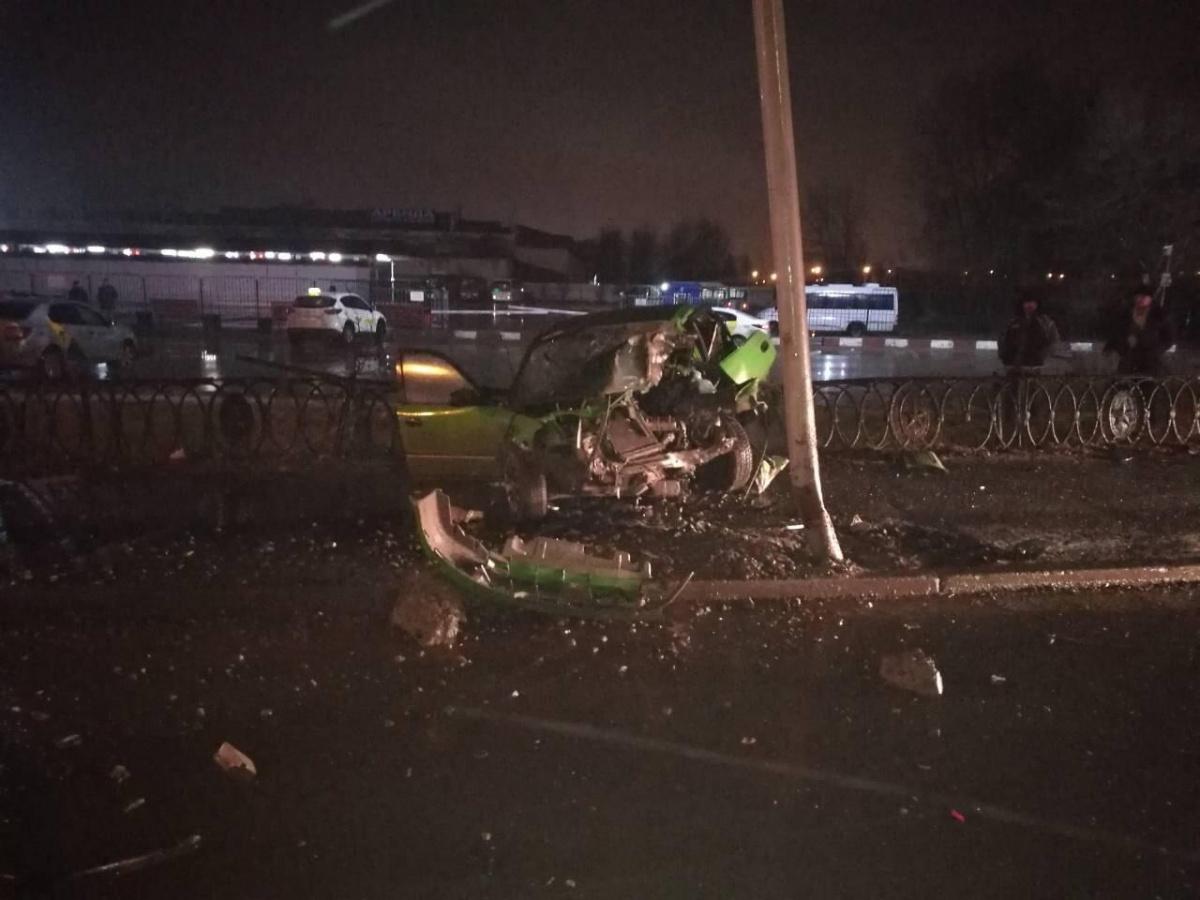 Авария произошла в районе двух часов ночи