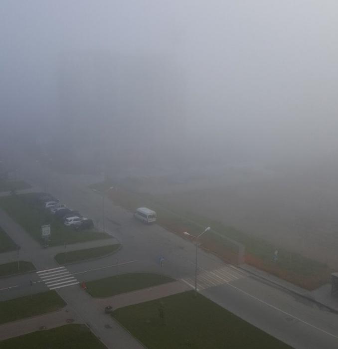 Туман сегодня в 6:00 в Кольцово