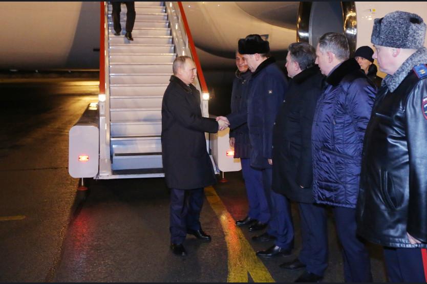 Встреча Владимира Путина и Андрея Травникова