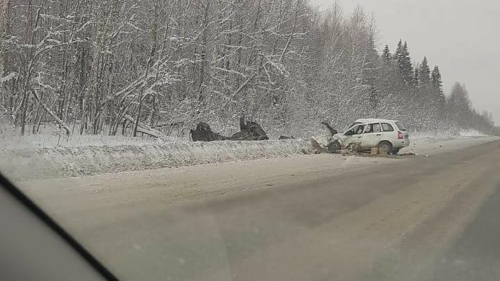 В аварии на трассе в Прикамье погибли три человека