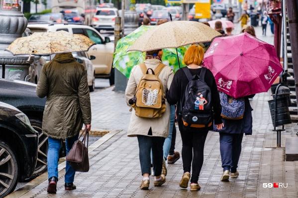 Этим летом пермяки почти не расставались с зонтиками