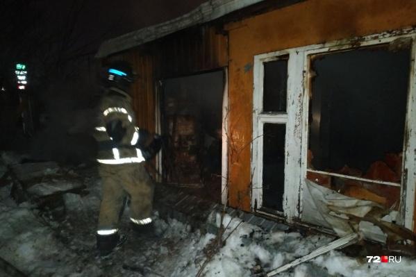Пожар произошел накануне во второй половине дня