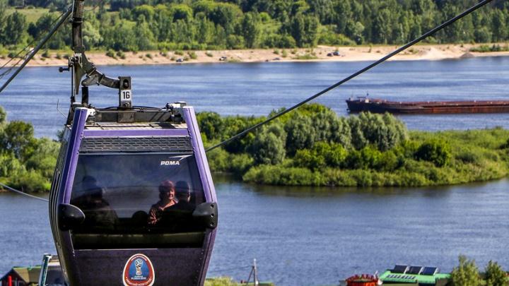 В Нижнем Новгороде из-за грозы приостановили работу канатной дороги