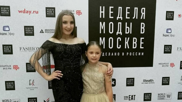 Школьницы из Красноярска приняли участие в дизайнерском показе наMoscow fashion week