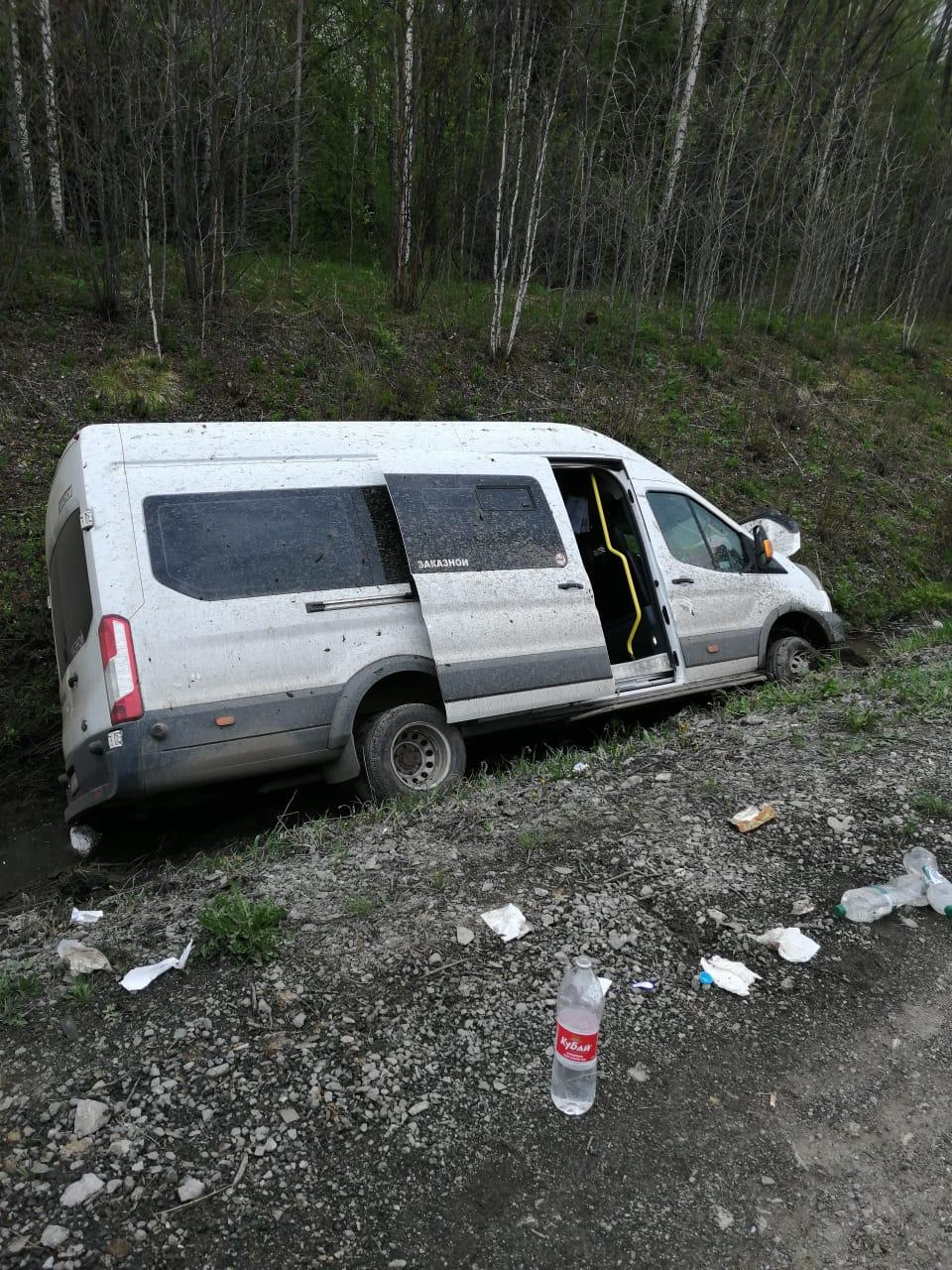 Владелец микроавтобуса, перевернувшегося на Московском тракте, работал без лицензии на перевозки