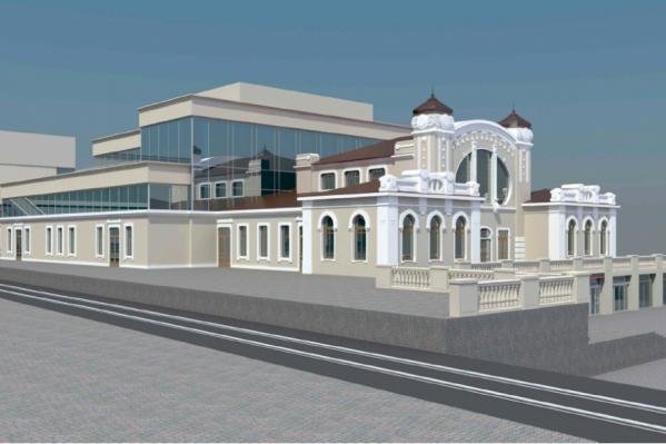 Это один из вариантов будущего облика вокзала