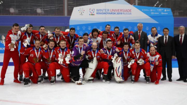«Финал был напряжённый»: новосибирские хоккеисты выиграли золото Универсиады