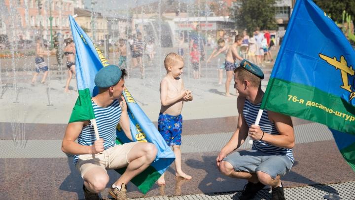В Ярославле десантники всё-таки нашли для себя фонтан. Детский