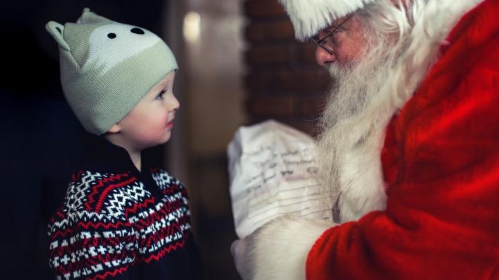 В Екатеринбурге камера видеонаблюдения предупредила о визите Деда Мороза