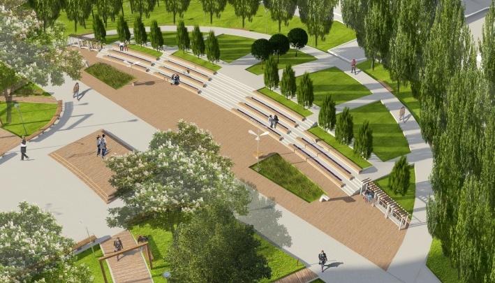 В сквере за площадью Павших Борцов сделают амфитеатр и проложат водопровод за 27,2 млн рублей