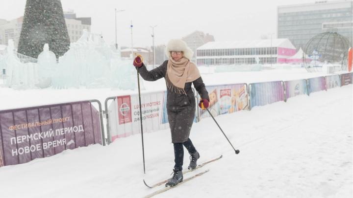 В Перми пройдёт бесплатная тренировка для участников лыжных гонок на городской эспланаде