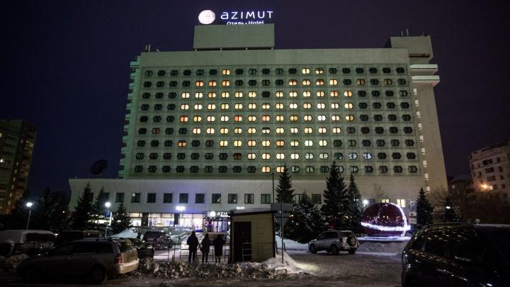 Огромное сердце загорелось на отеле в центре Новосибирска