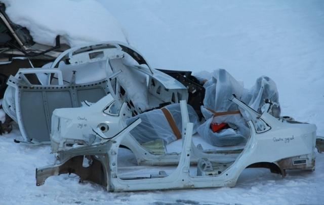 В Башкирии угнанный автомобиль нашли распиленным на части