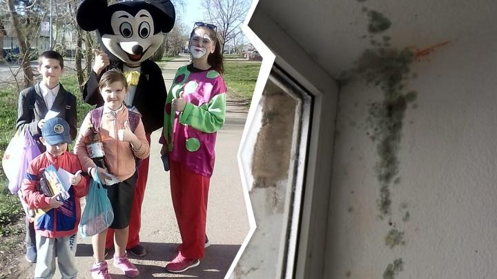 Аллергия в подарок: чиновники из Башкирии выдали многодетной семье квартиру в общежитии с плесенью