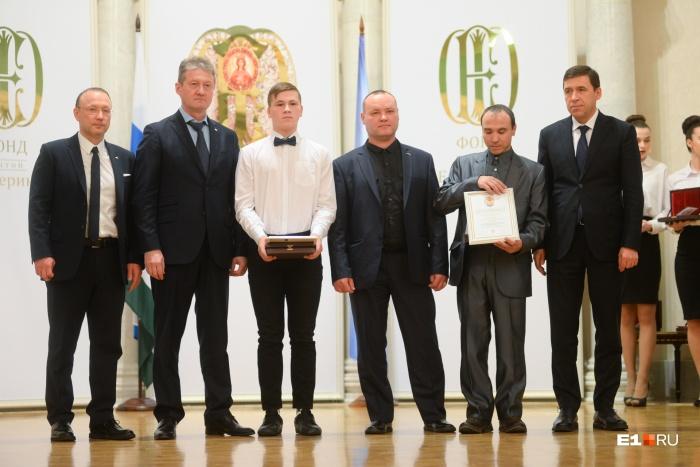 Помимо губернатора героев награждалиглава РМК Игорь Алтушкин и гендиректор УГМК Андрей Козицын