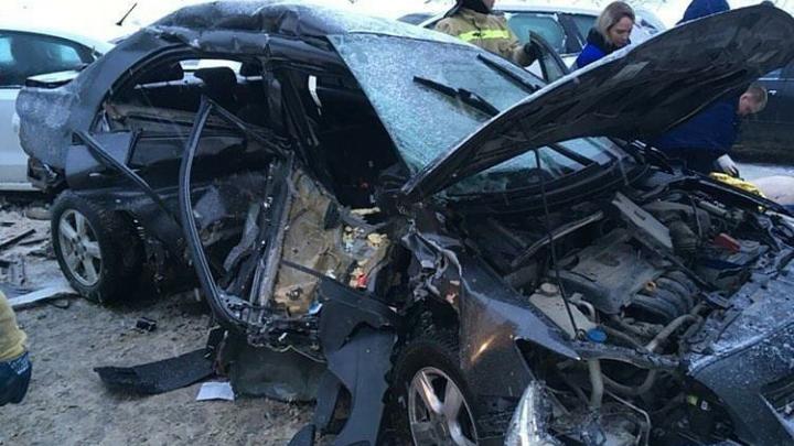 В массовой аварии на трассе Пермь — Березники погибли два человека