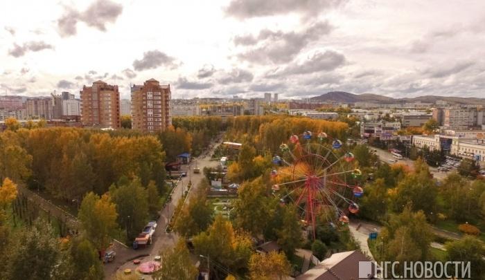 Cильный ветер надвигается на Красноярск