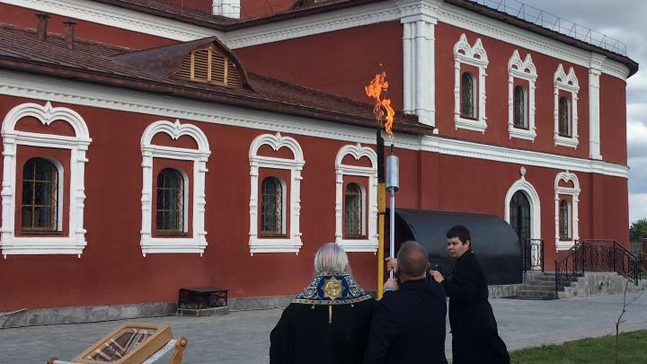 В Кургане газифицировали Богоявленский собор