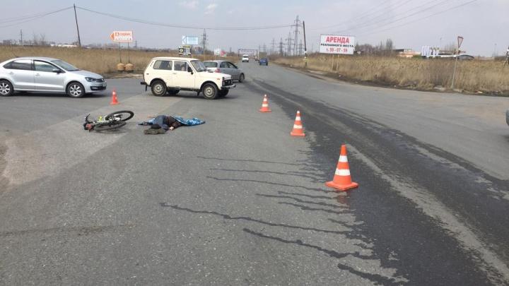 КАМАЗ насмерть сбил велосипедистана Окружной дороге