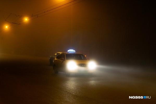 Если на улице туман, то зелёные глаза для такси совсем не помощники