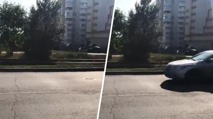 Киевская уходит по землю: в Самаре заметили еще один провал на дороге